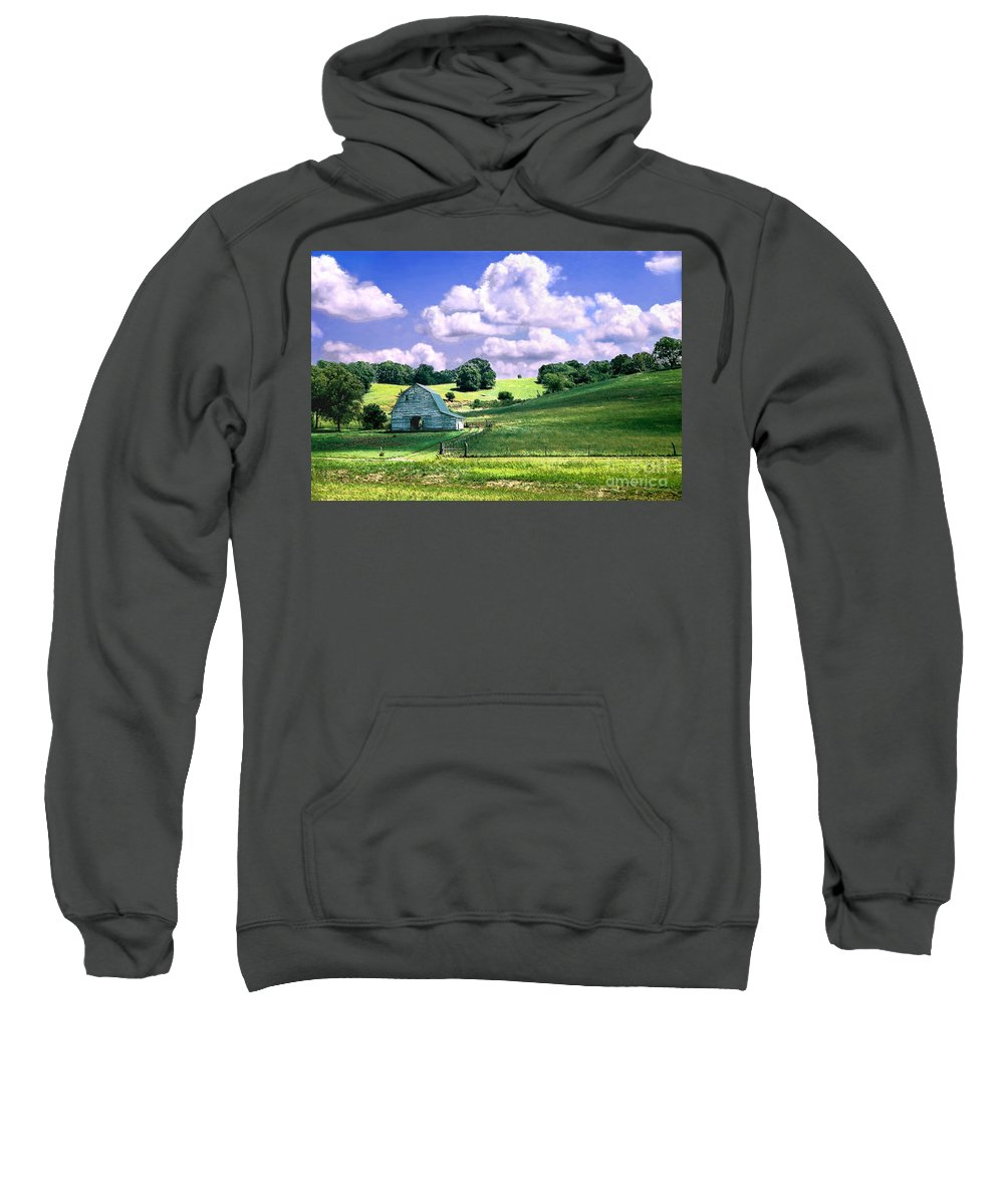 Landscape Sweatshirt featuring the photograph Missouri River Valley by Steve Karol