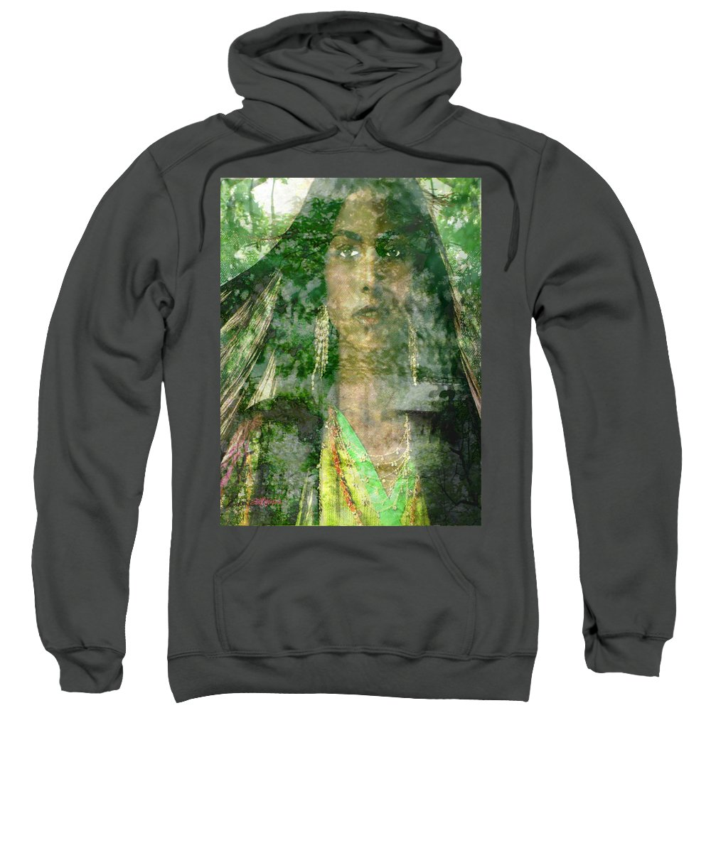 American Indian Sweatshirt featuring the digital art Mistress Of The Wind by Seth Weaver