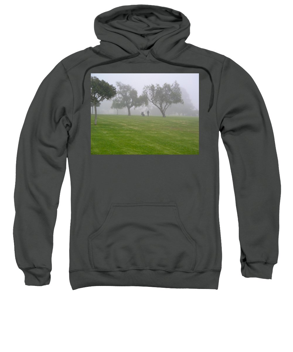 Misty Sweatshirt featuring the photograph Ghostly Mist by Denise Mazzocco