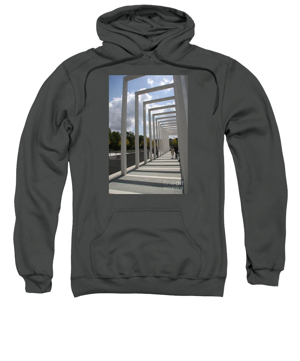 Archway Sweatshirt featuring the photograph Modern Archway - Schwerin Garden - Germany by Christiane Schulze Art And Photography