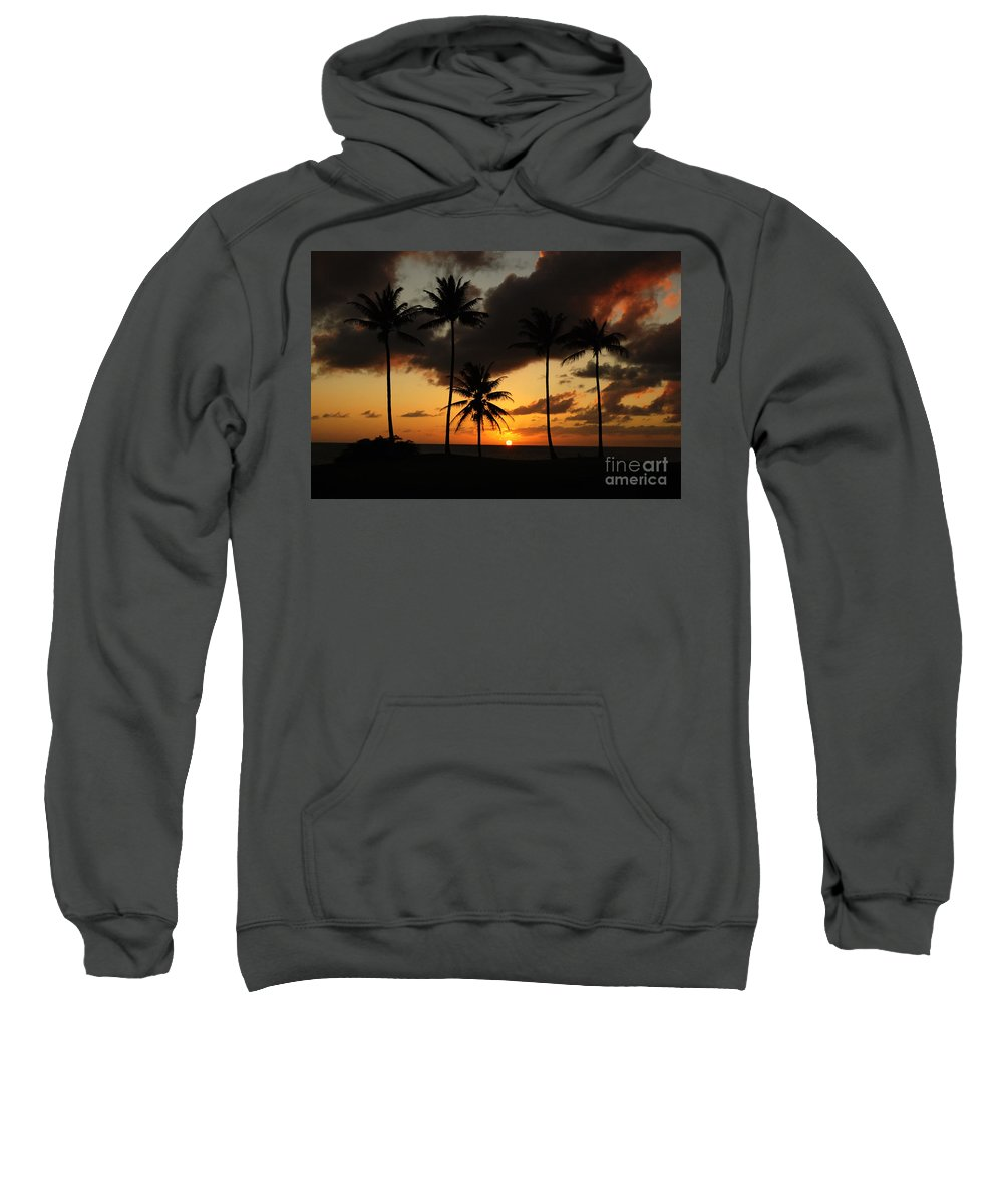 Moloki Sweatshirt featuring the photograph Moloki Sunset by Vivian Christopher