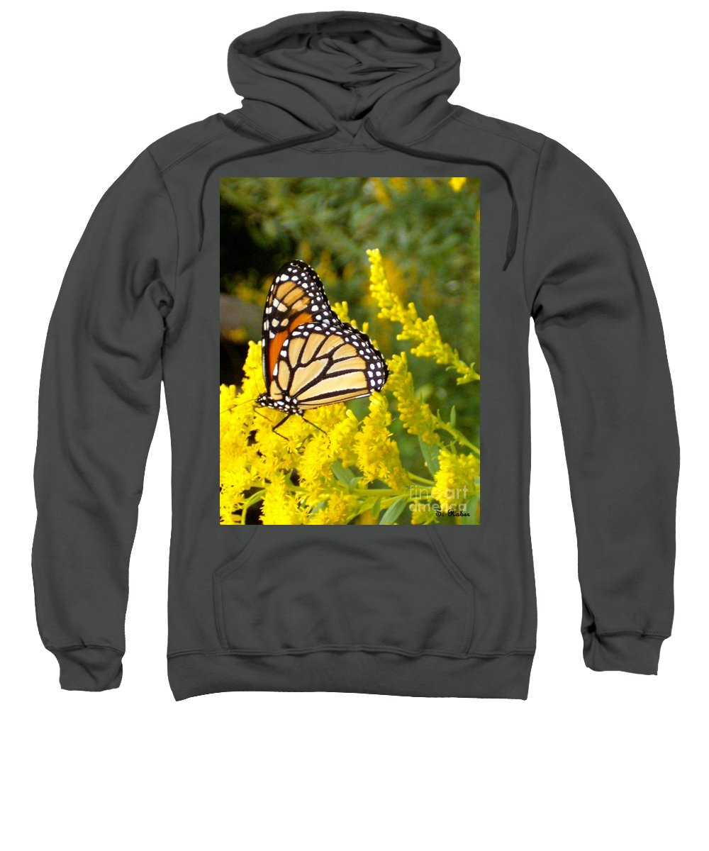 Monarch Sweatshirt featuring the photograph Monarch by Sara Raber