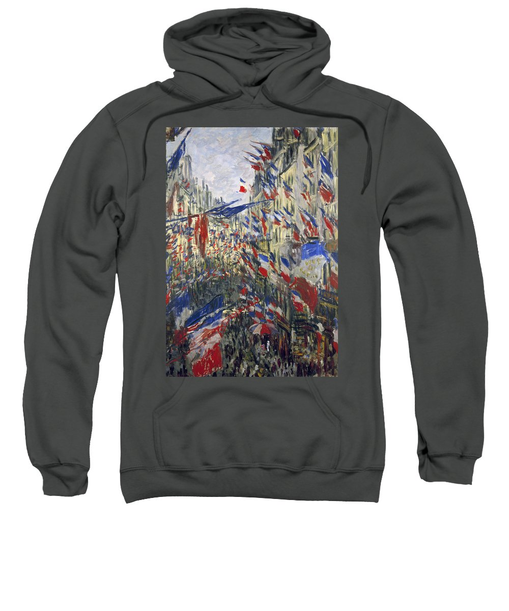 1878 Sweatshirt featuring the photograph Monet: Montorgeuil, 1878 by Granger