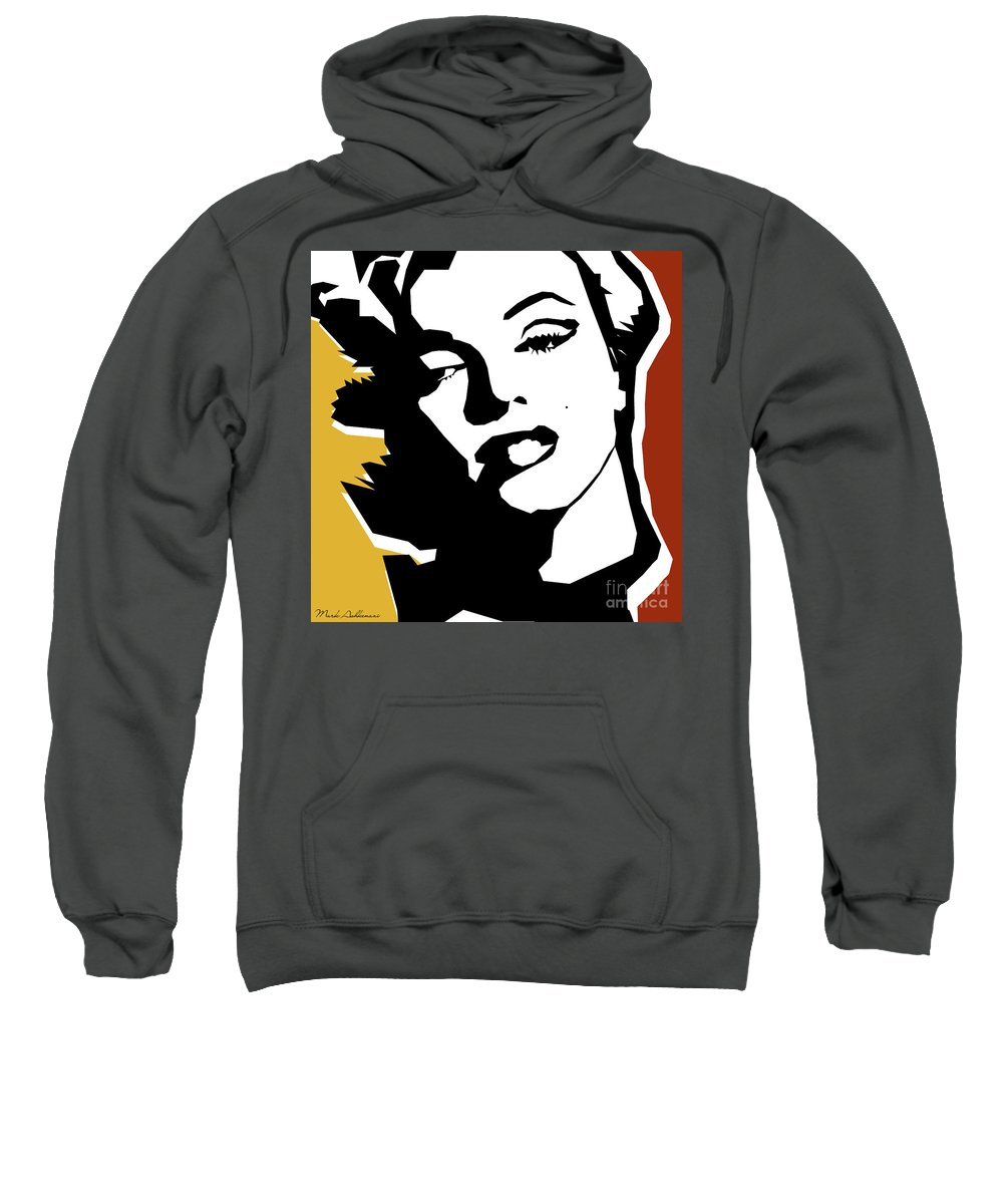 Pop Art Sweatshirt featuring the digital art Monroe by Mark Ashkenazi