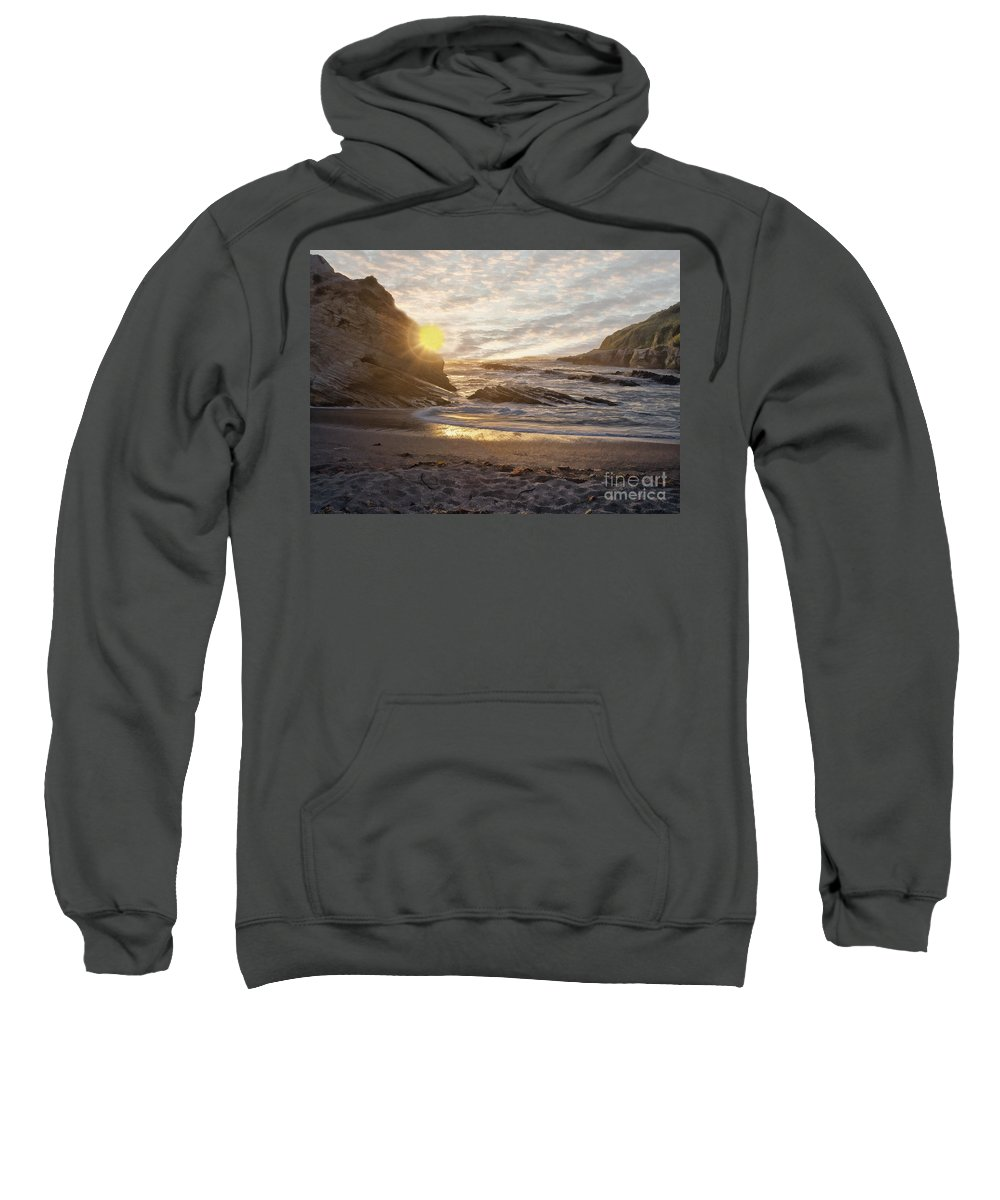Seascape Sweatshirt featuring the photograph Montana De Oro Sunset II by Sharon Foster