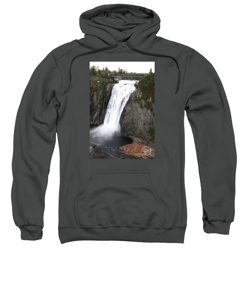 Montmorency Fall Sweatshirt featuring the photograph Montmorency Falls - Canada by Christiane Schulze Art And Photography