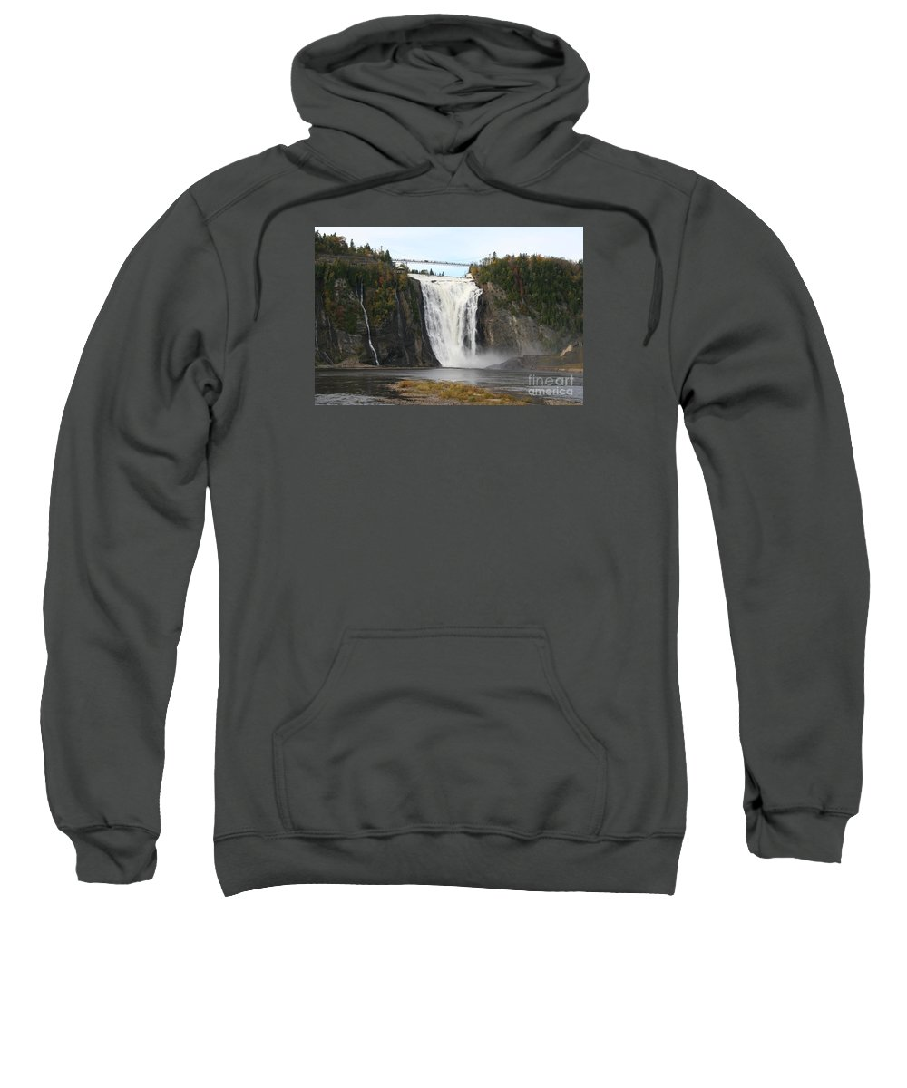 Waterfall Sweatshirt featuring the photograph Montmorency Waterfall - Canada by Christiane Schulze Art And Photography