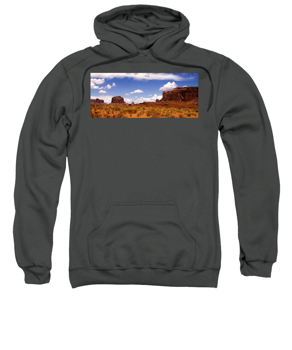 Landscape Sweatshirt featuring the photograph Monument Valley - Arizona by Jon Berghoff
