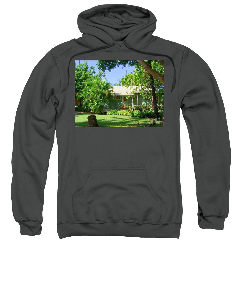 Morning At The Cabin Sweatshirt featuring the photograph Morning At The Cabin by Mary Deal