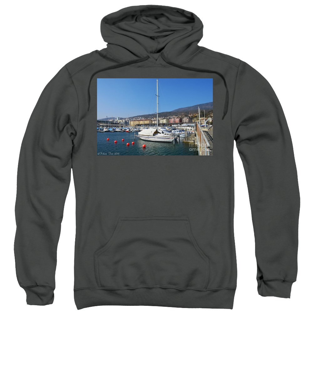 Lake Sweatshirt featuring the photograph Morning Breeze by Felicia Tica