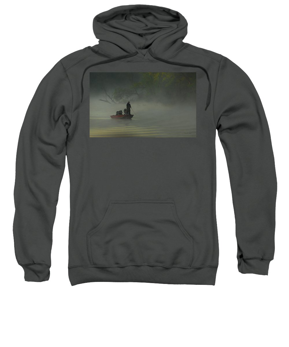 Fish Sweatshirt featuring the photograph Morning Fisherman by Everet Regal