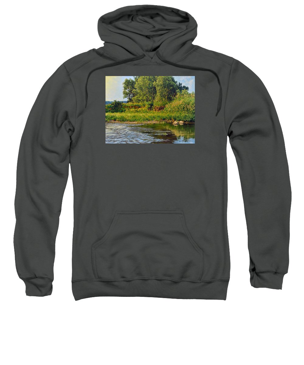 Summer Sweatshirt featuring the painting Morning Glow by Bruce Morrison