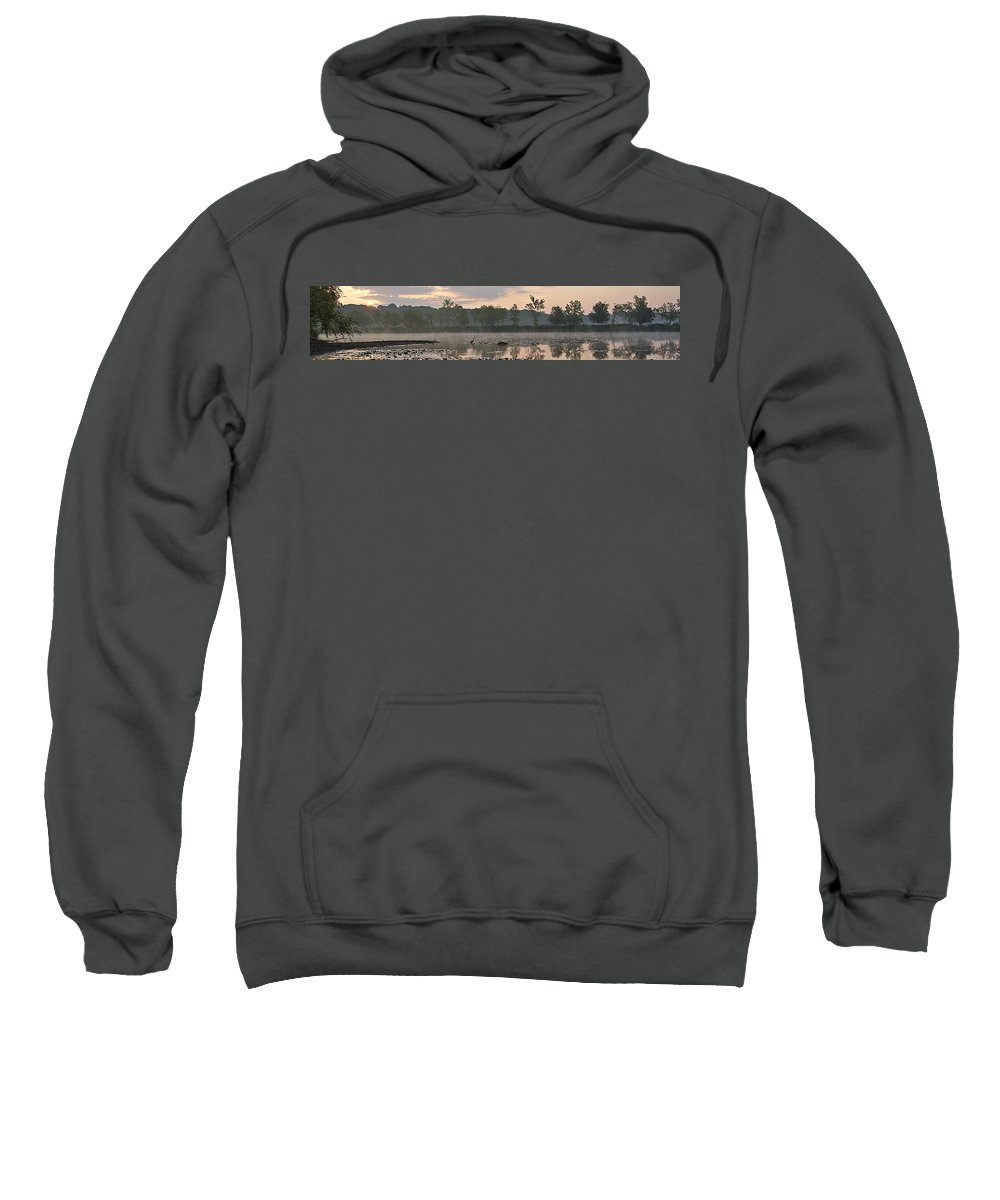 Dawn Sweatshirt featuring the photograph Morning Mist I by Joe Faherty