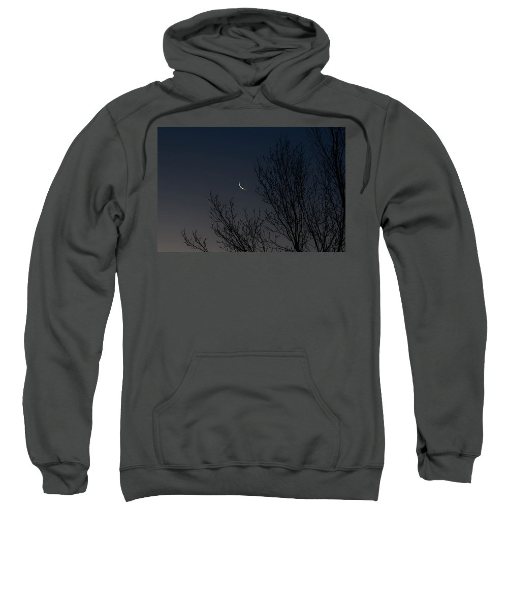 Moon Sweatshirt featuring the photograph Morning Moon by Tim Beebe