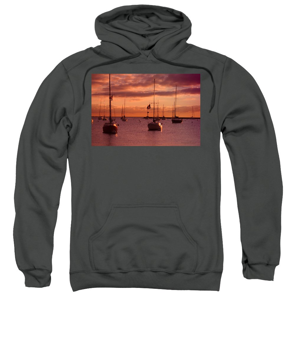 Sunrise Sweatshirt featuring the photograph Morning Waves by Miguel Winterpacht