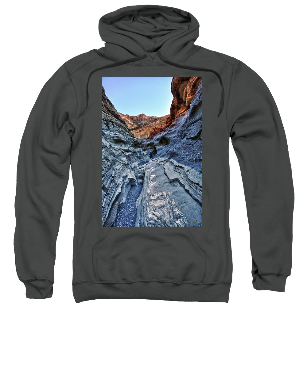 mosaic Canyon Sweatshirt featuring the photograph Mosaic Canyon In Death Valley by Angela Stanton