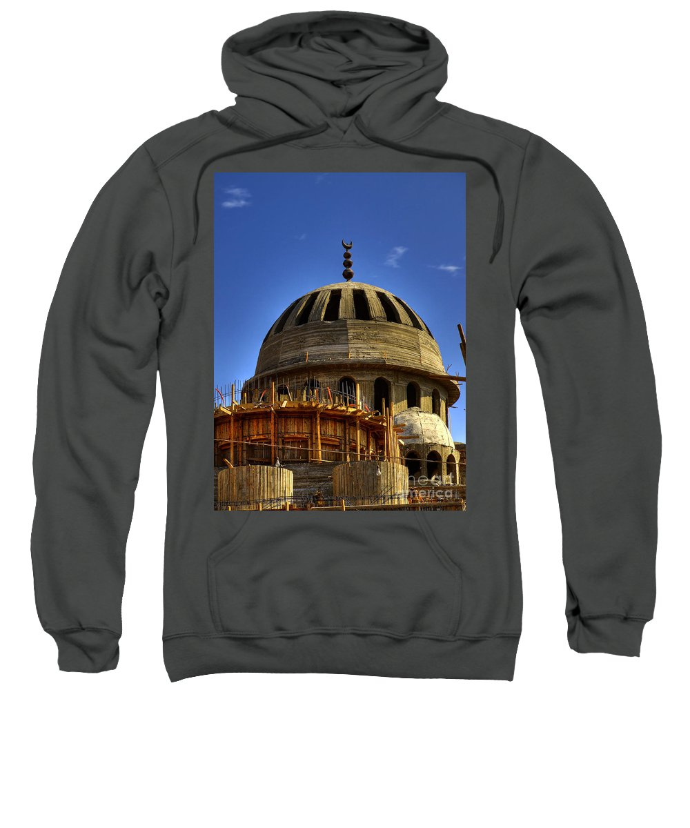 Construction Sweatshirt featuring the photograph Mosque Under Construction 01 by Antony McAulay