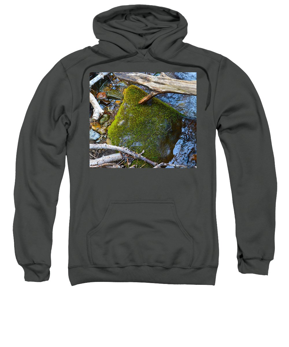 Nevada Sweatshirt featuring the photograph Mossy Rock by Brent Dolliver