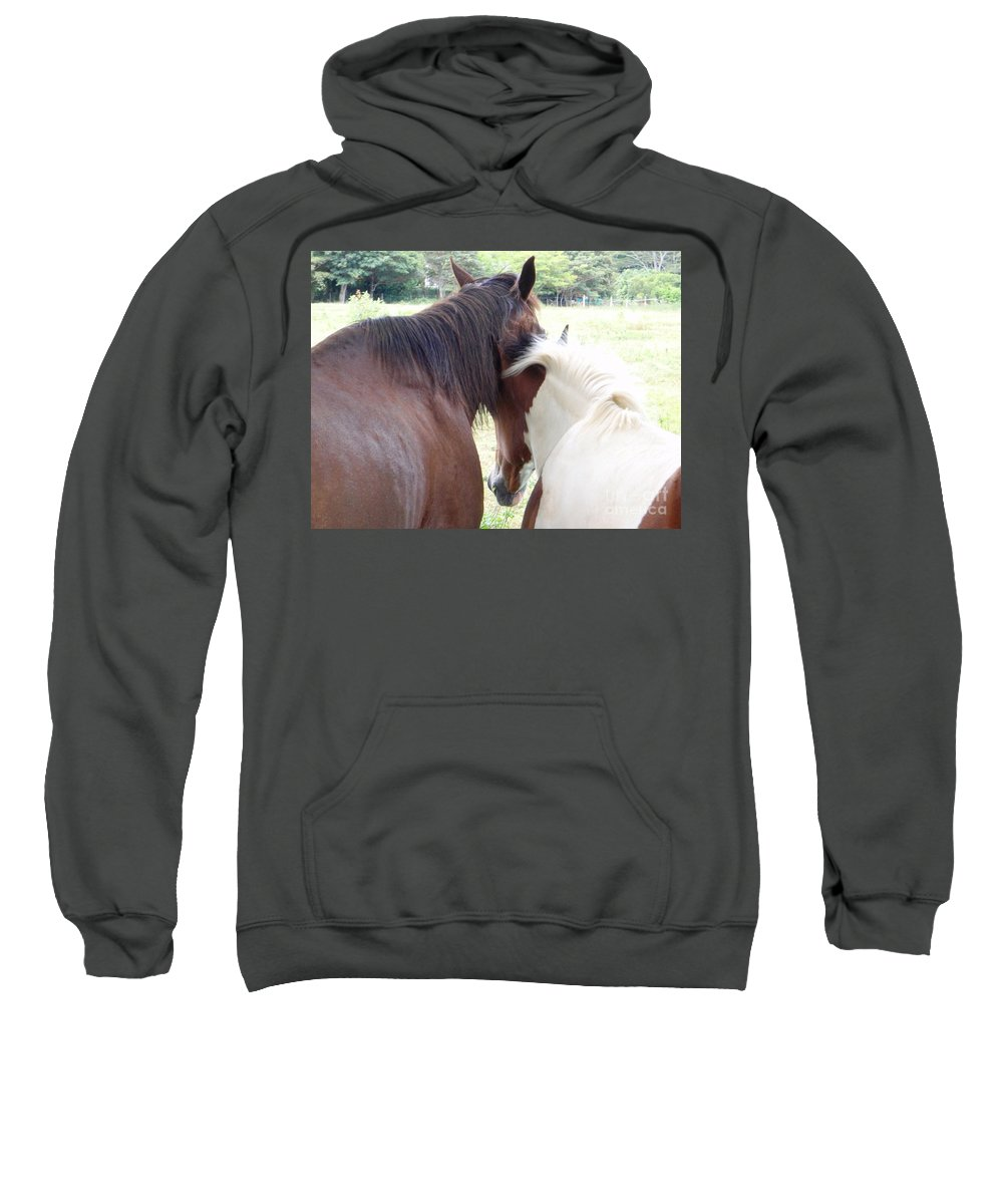 Mary Deal Sweatshirt featuring the photograph Mother And Daughter Private Moment by Mary Deal