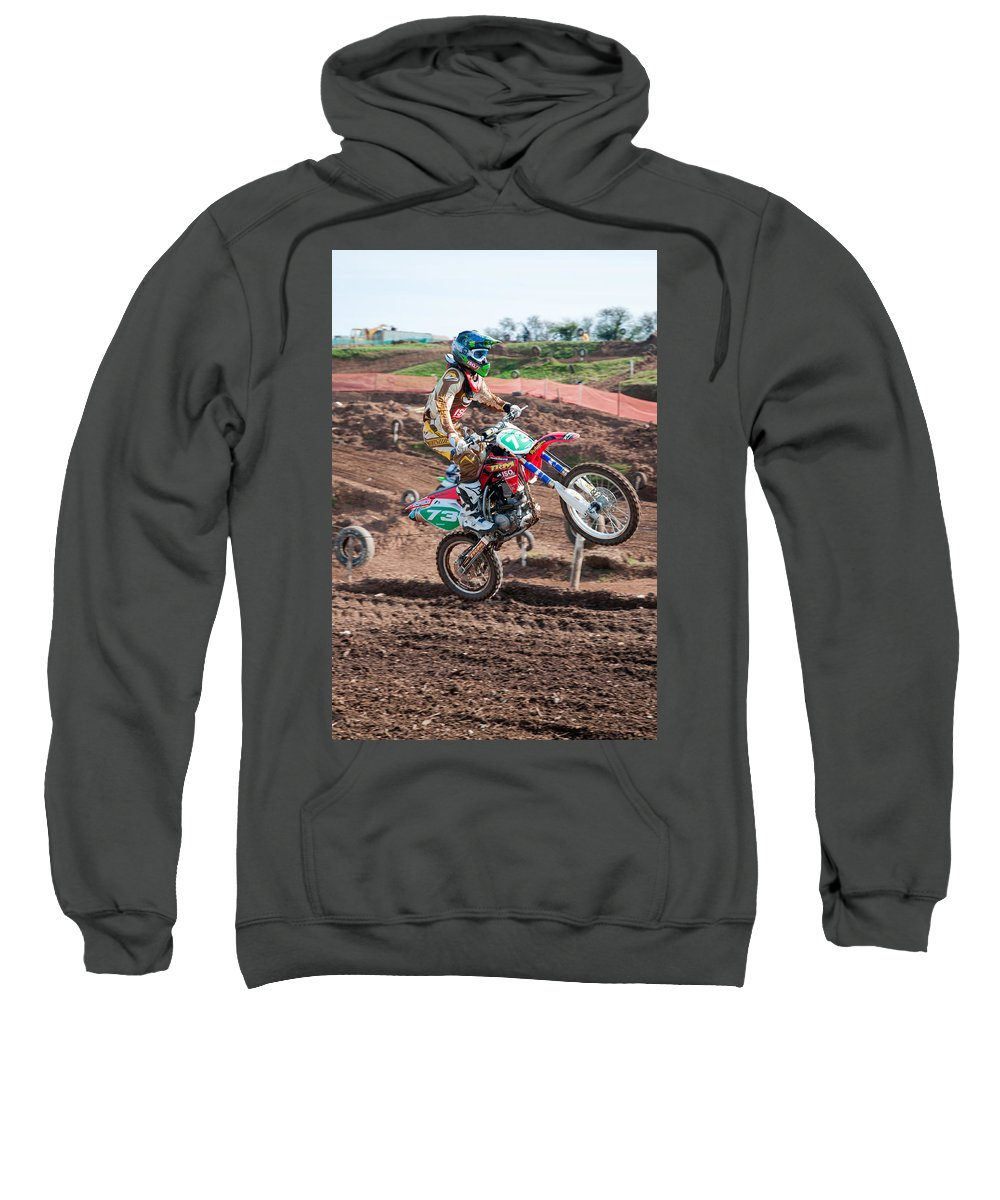 Motorcross Sweatshirt featuring the photograph Motocross Rider by Roy Pedersen