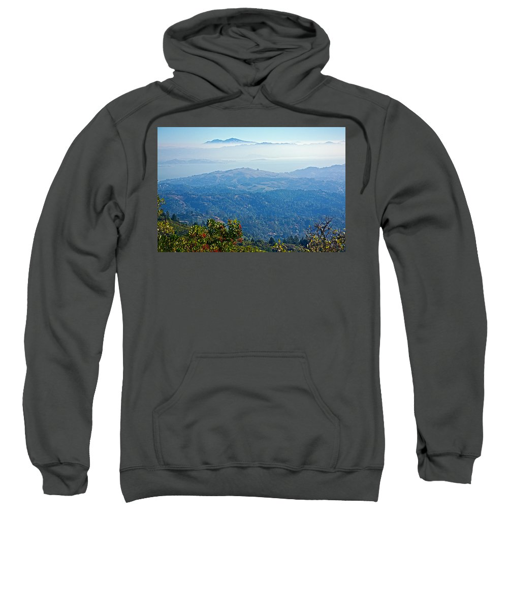 Mount Diablo From Mount Tamalpias Sweatshirt featuring the photograph Mount Diablo From Mount Tamalpias-california by Ruth Hager
