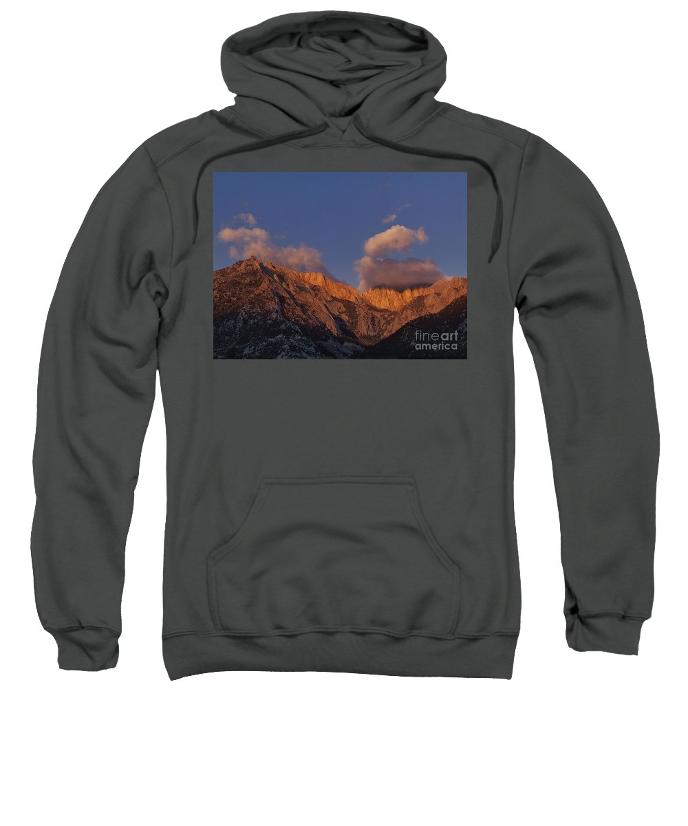 Dave Welling Sweatshirt featuring the photograph Mount Whitney In Clouds Alabama Hills Eastern Sierras California by Dave Welling