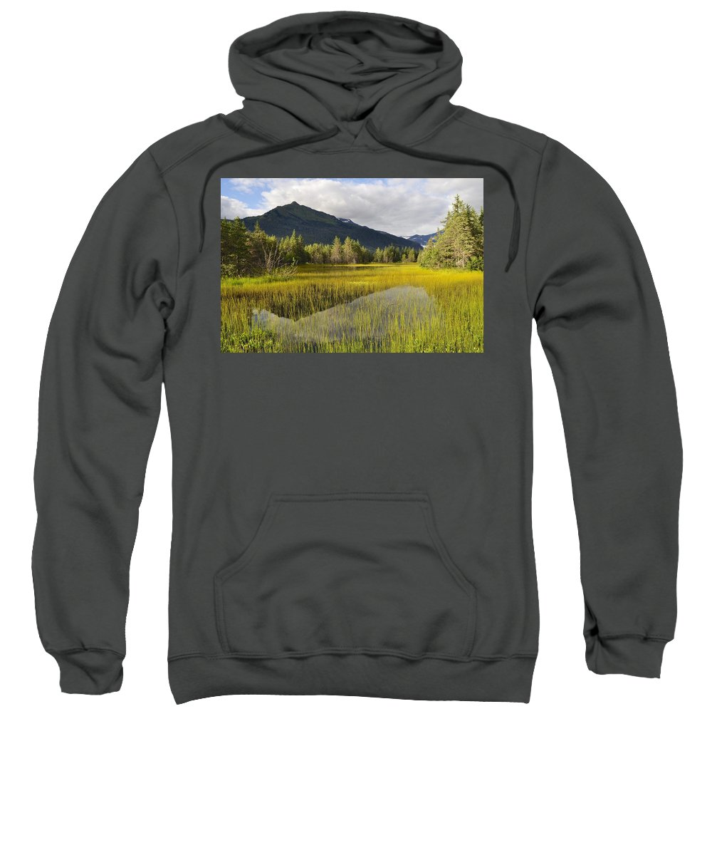 Mountain Sweatshirt featuring the photograph Mountain Reflection by Cathy Mahnke