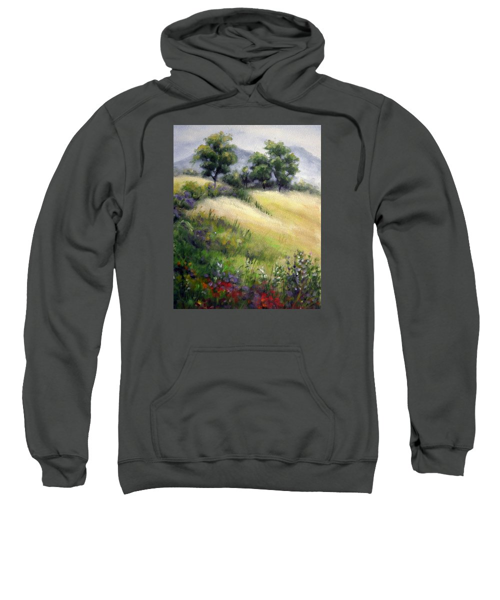 Mountains Sweatshirt featuring the painting Mountain Spring I by Mary Taglieri