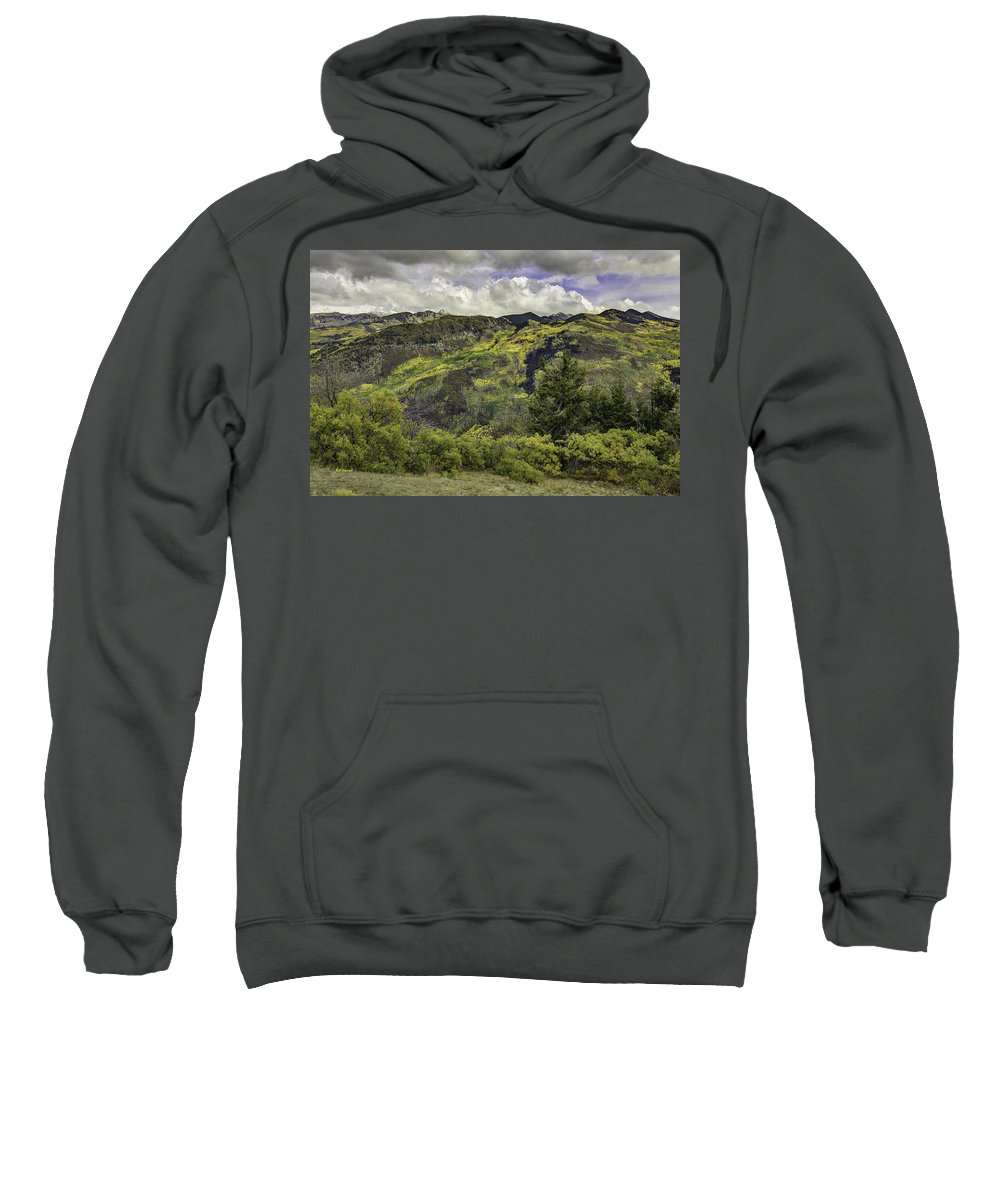 Landscape Sweatshirt featuring the photograph Mountains Of Color by Bill Sherrell