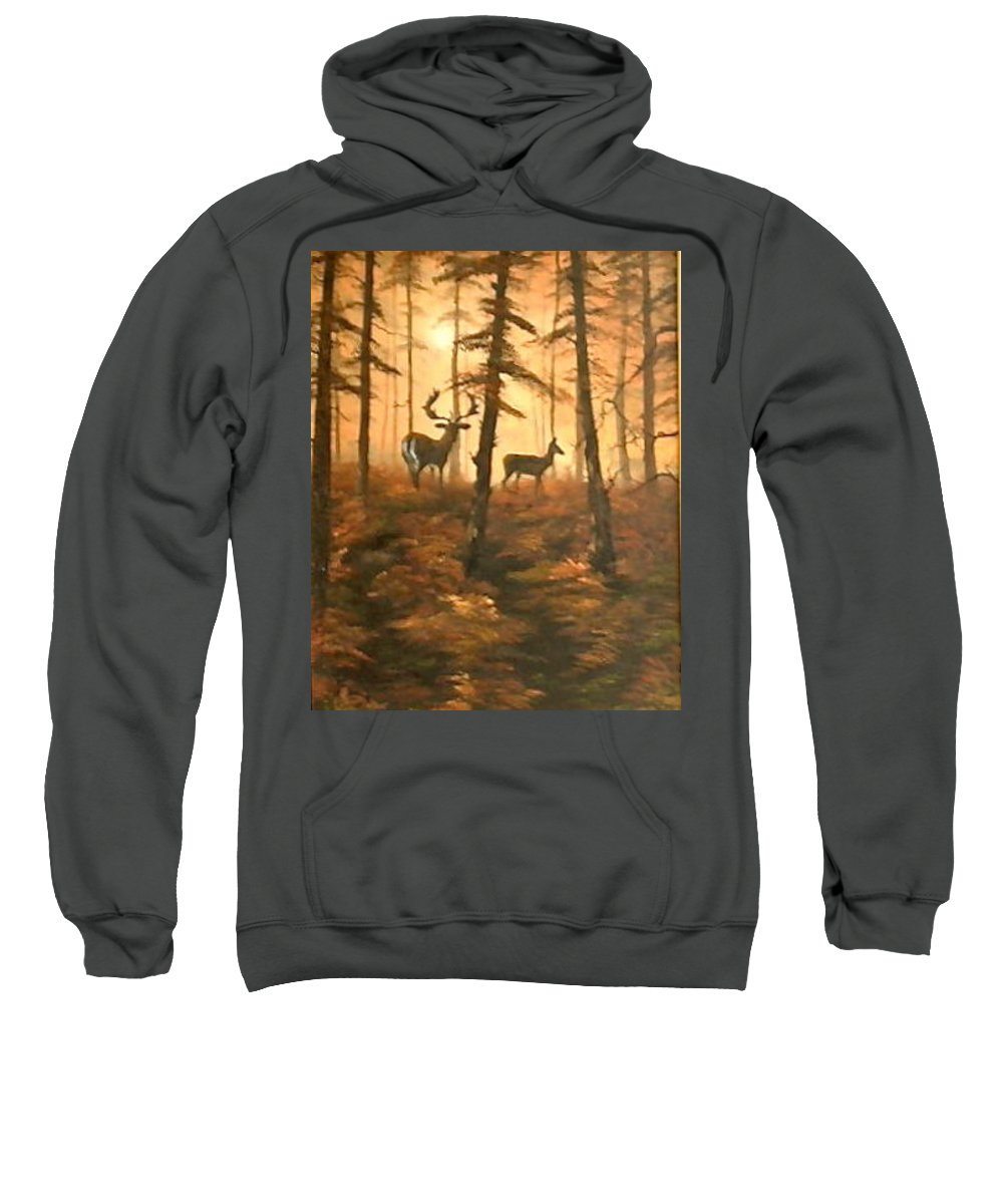 Cannock Chase Sweatshirt featuring the painting Mr And Mrs by Jean Walker