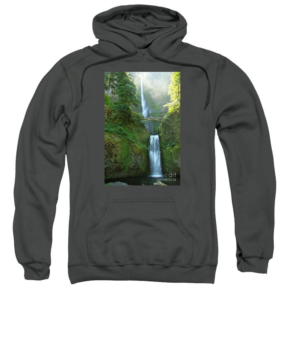 Multnomah Falls Sweatshirt featuring the photograph Multnomah Falls by Christiane Schulze Art And Photography