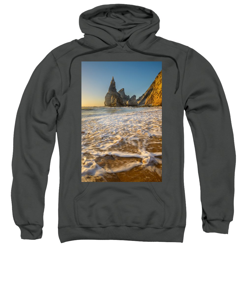 Pebbles Sweatshirt featuring the photograph Murmur Of The Pebbles by Mark Robert Rogers