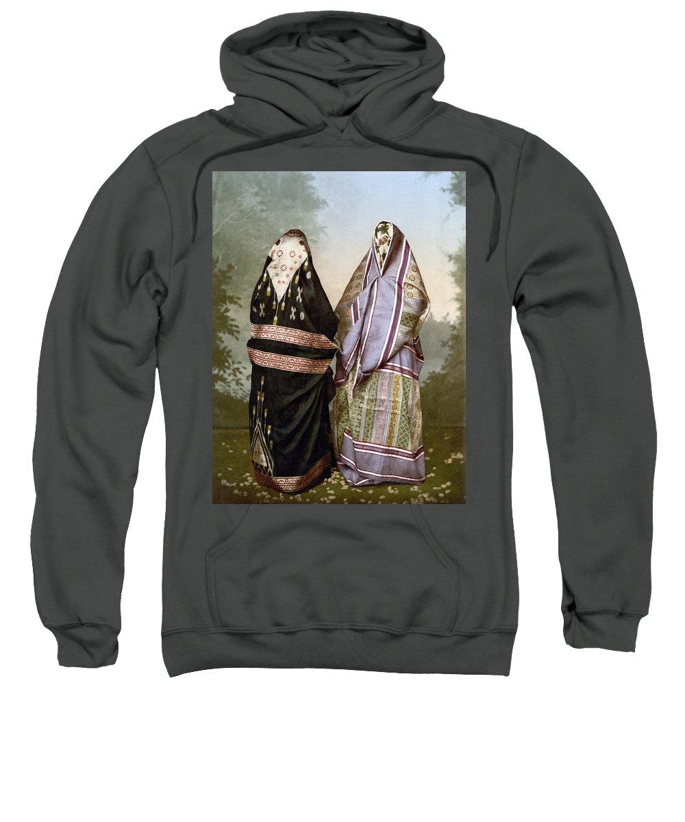 1895 Sweatshirt featuring the painting Muslim Women, C1895 by Granger