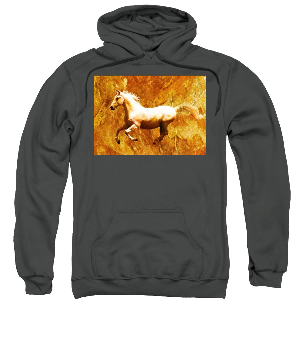 Wild Horses Sweatshirt featuring the photograph Mustang by Steve McKinzie