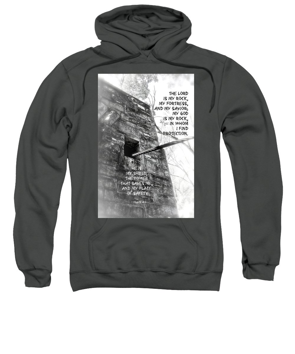 Stone Sweatshirt featuring the photograph My Rock And Fortress by Debbie Nobile