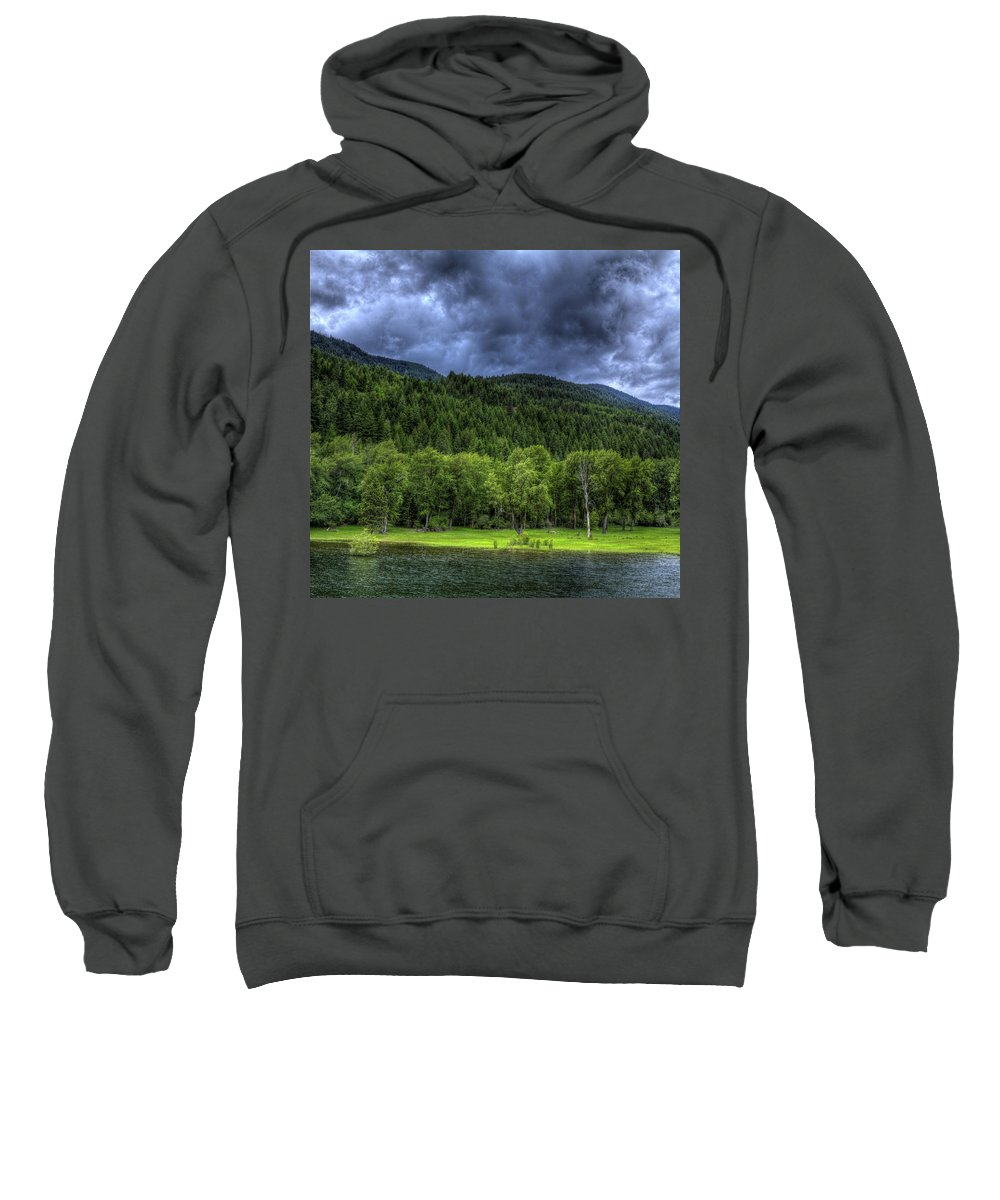 Scenic Sweatshirt featuring the photograph Myrtle Creek 1 by Lee Santa
