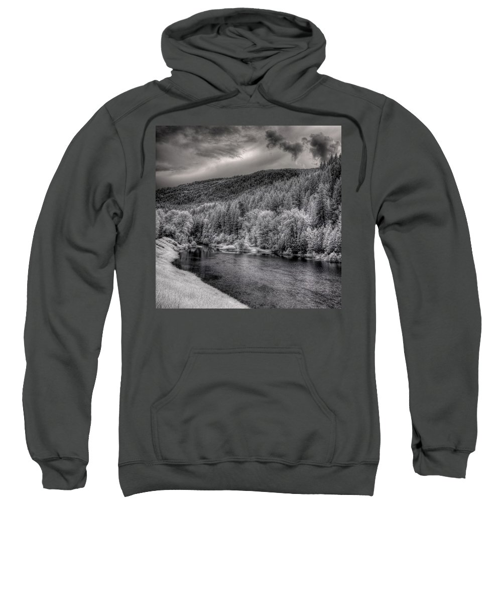 Infrared Sweatshirt featuring the photograph Myrtle Creek 2 by Lee Santa