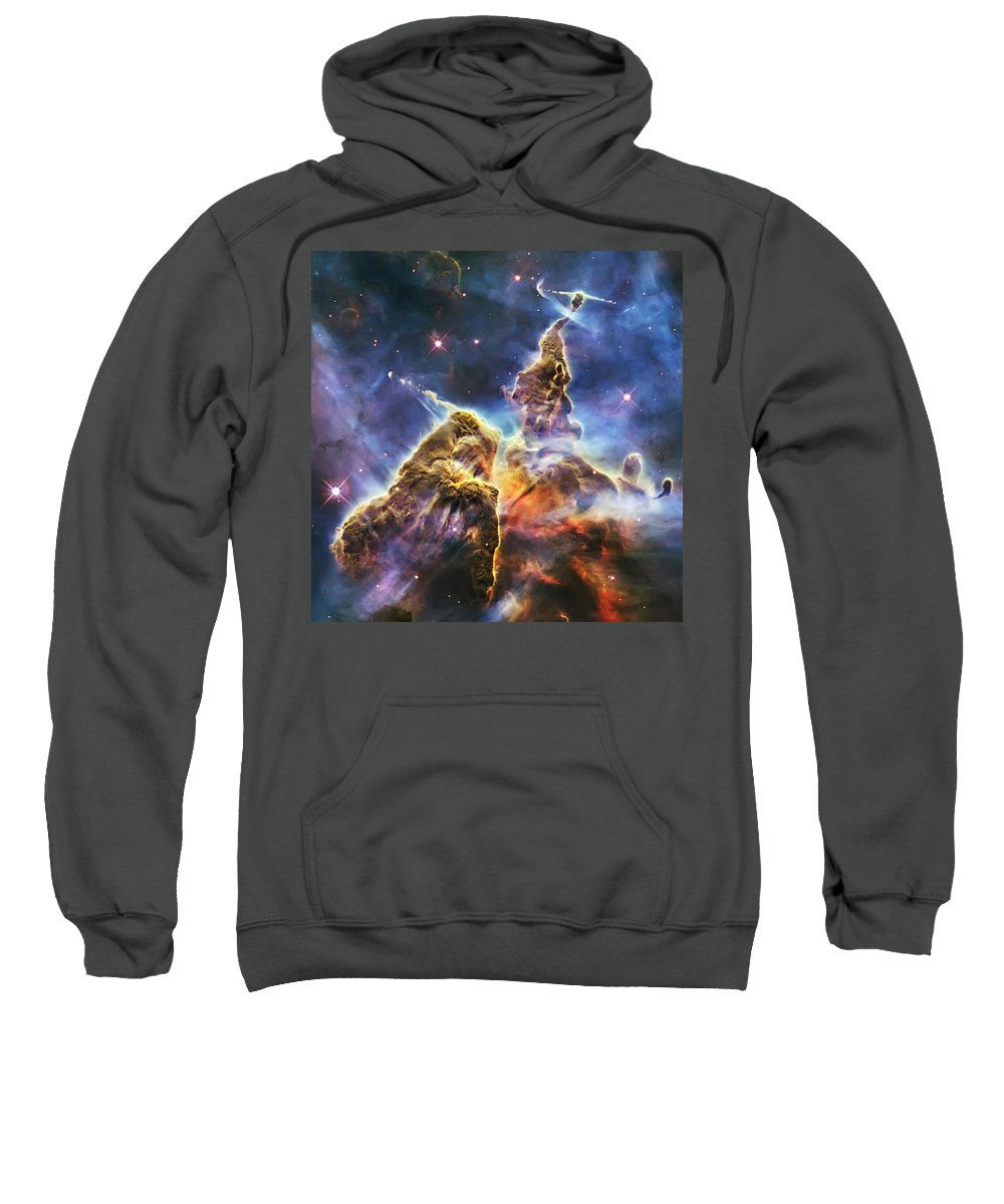 3scape Sweatshirt featuring the photograph Mystic Mountain by Adam Romanowicz