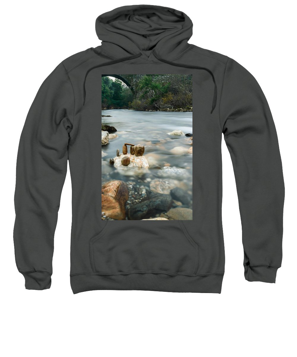 River Sweatshirt featuring the photograph Mystic River II by Marco Oliveira
