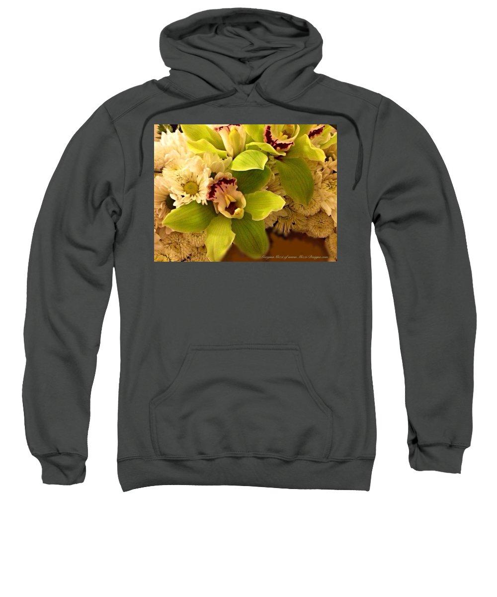 Mums Sweatshirt featuring the photograph Mystical Orchid by Georgina Mizzi