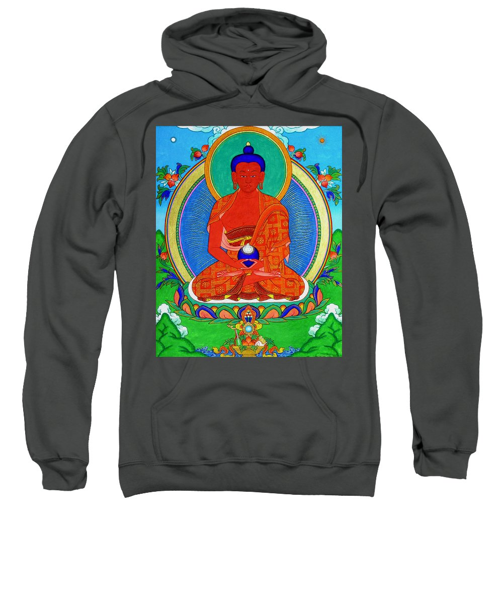 Worshipping Buddha Sweatshirt featuring the photograph Namo Amitabha Buddha 16 by Jeelan Clark