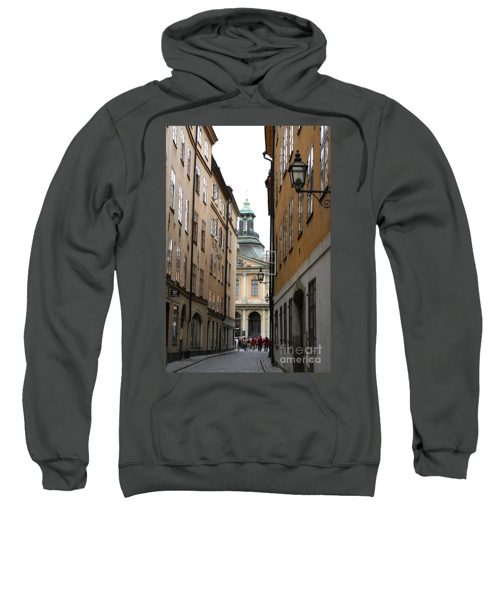 Road Sweatshirt featuring the photograph Narrow Road Stockholm by Christiane Schulze Art And Photography