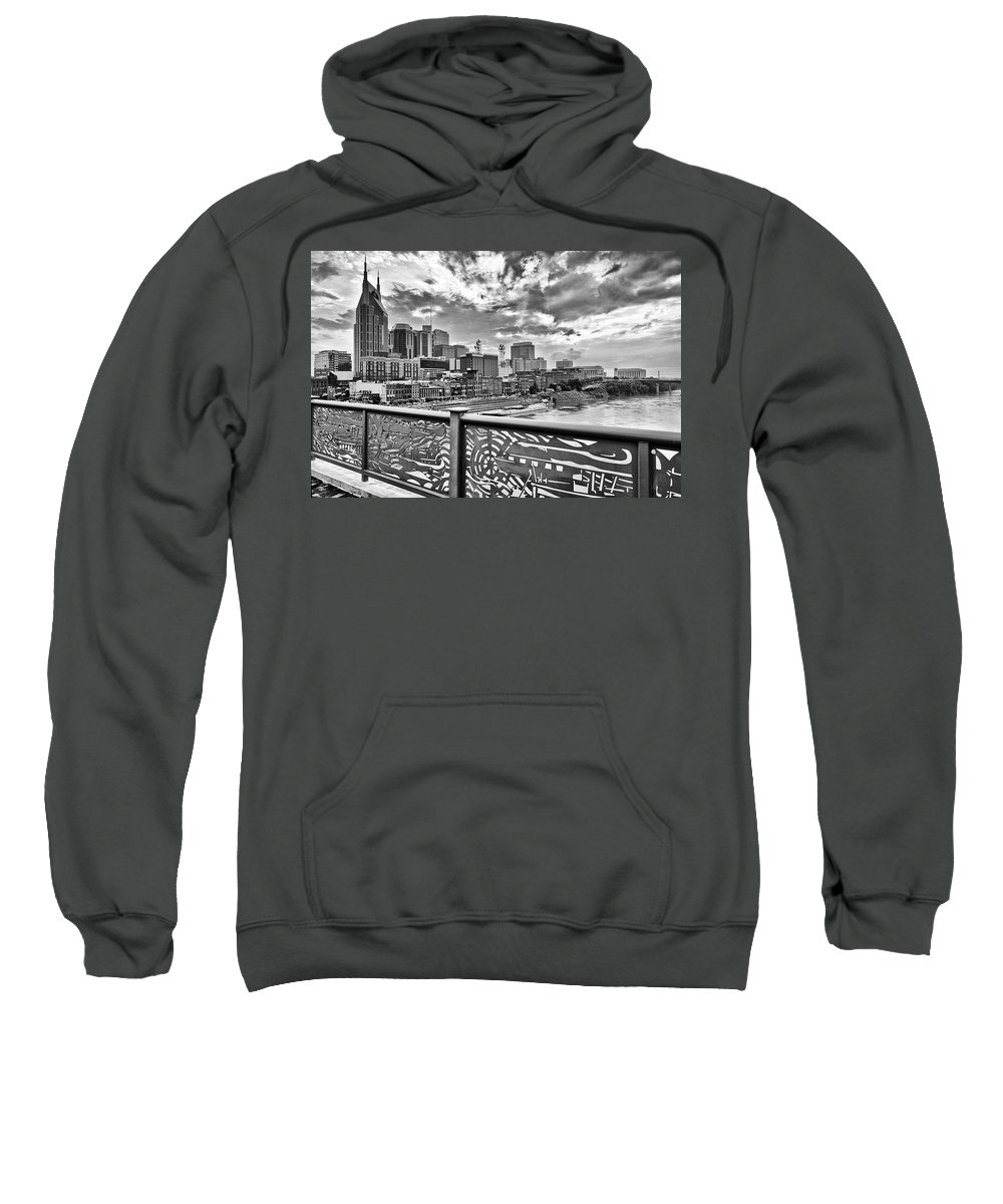 Nashville Sweatshirt featuring the photograph Nashville From The Shelby Bridge by Diana Powell