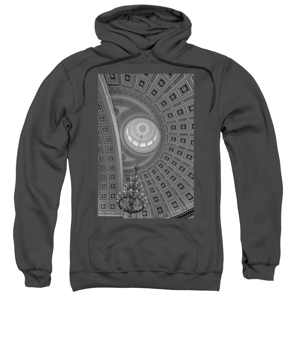 Architecture Sweatshirt featuring the photograph National Statuary Rotunda Bw by Susan Candelario