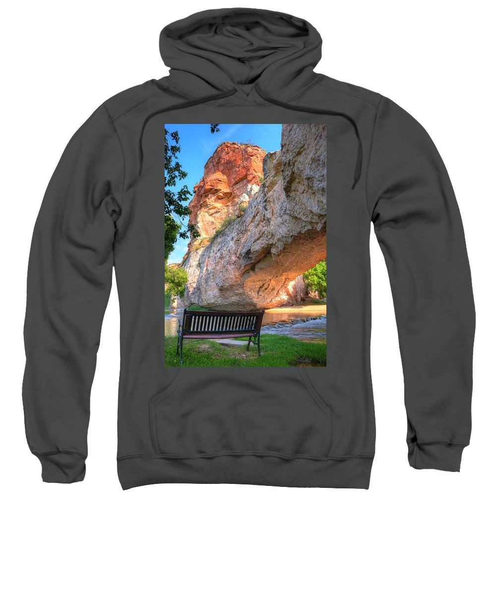Arch Sweatshirt featuring the photograph Natural Bridge by David Ross