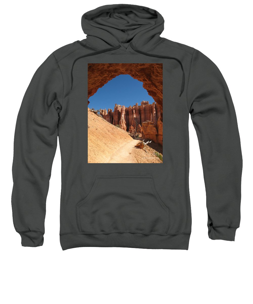 Arch Sweatshirt featuring the photograph Natural Archway - Bryce Canyon by Christiane Schulze Art And Photography