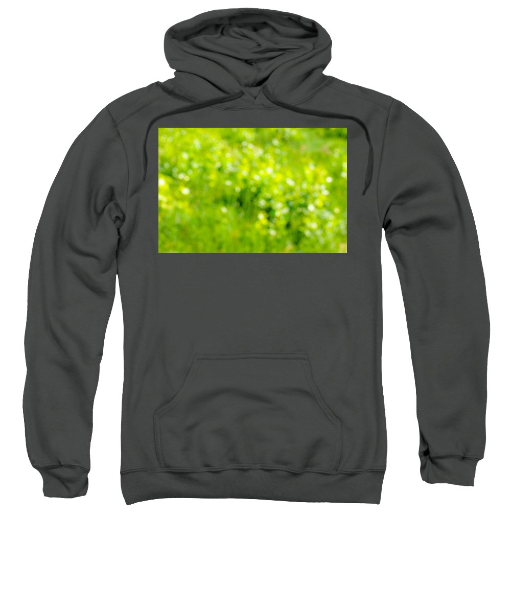 Abstract Sweatshirt featuring the photograph Natural Bokeh by Alain De Maximy