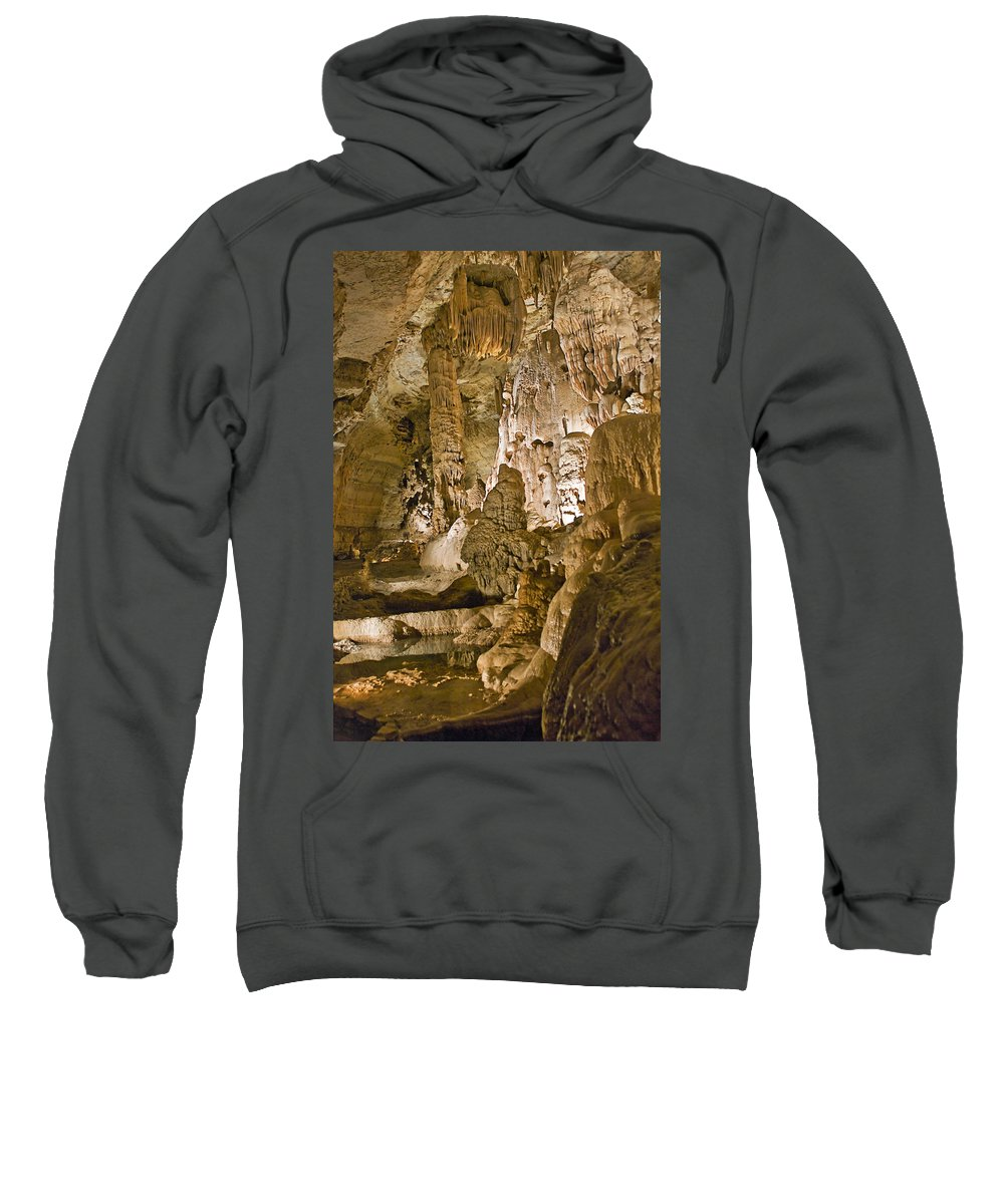 Natural Bridge Cavern Sweatshirt featuring the photograph Natural Bridge Cavern - 1 by Paul Riedinger