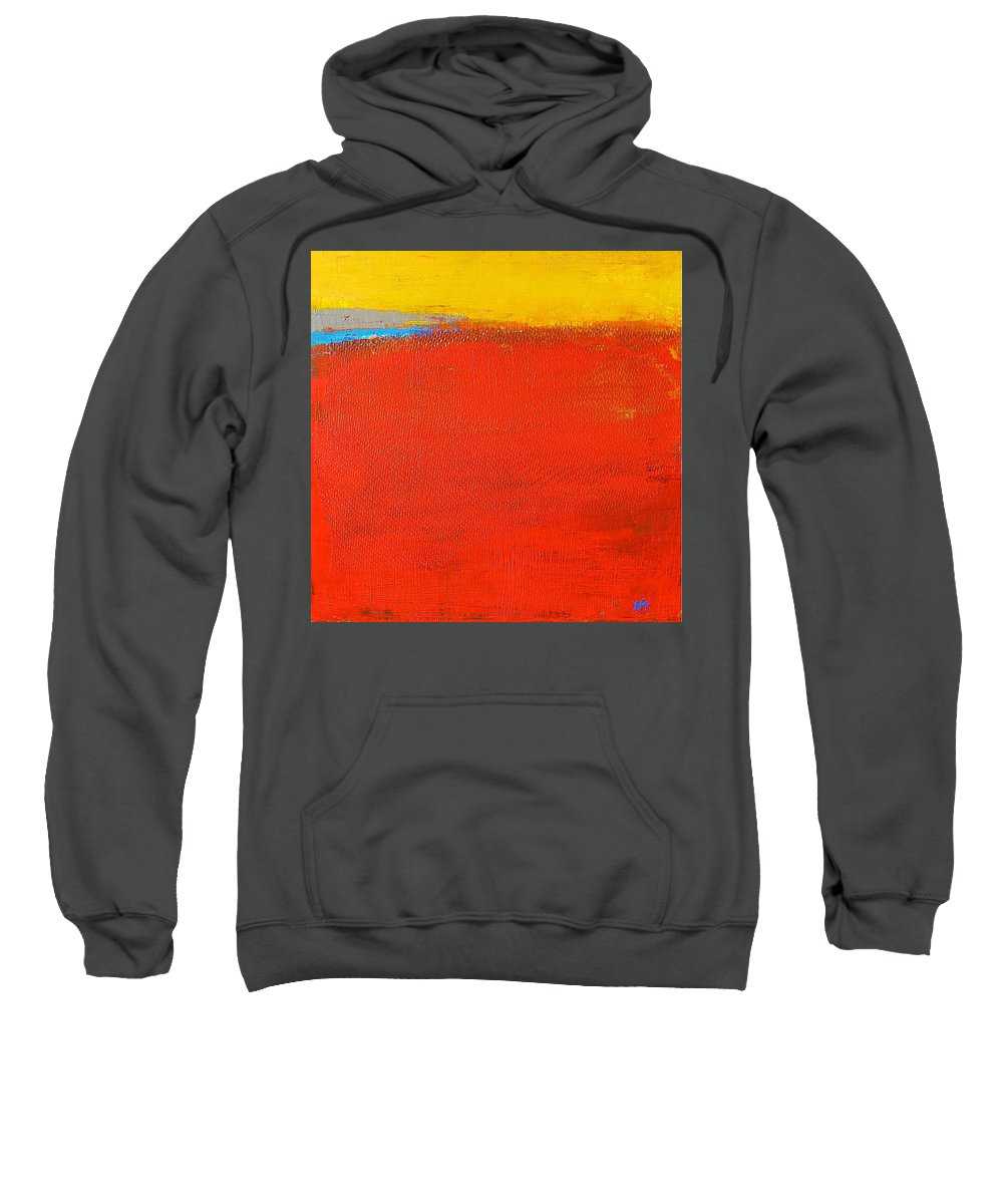 Landscape Sweatshirt featuring the painting Nature Rouge by Habib Ayat