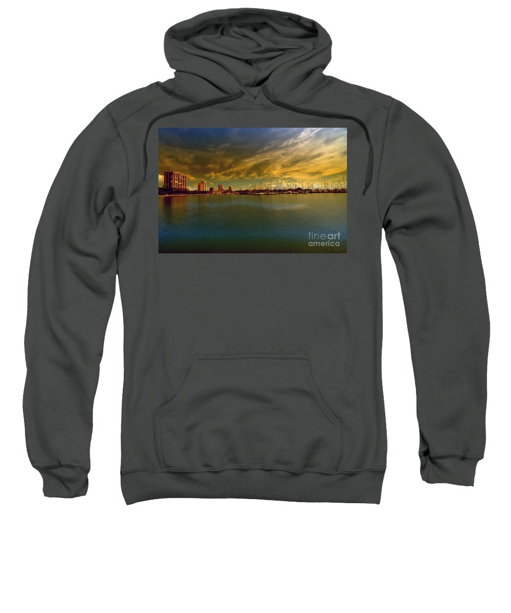 Natures Dramatic Skies Sweatshirt featuring the photograph Natures Dramatic Skies by Liane Wright